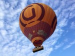 Comfortabele ballon vlucht boven de regio Noordeloos op dinsdag 14 augustus 2018