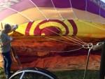 Geweldige luchtballon vaart vanaf startveld Veghel op dinsdag 16 oktober 2018