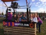 Betoverende ballonvaart opgestegen op startveld Veghel op dinsdag 16 oktober 2018