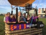 Plezierige ballon vaart in de regio Veghel op dinsdag 16 oktober 2018