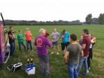 Perfecte luchtballon vaart opgestegen in Beesd op dinsdag 21 augustus 2018