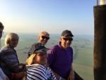 Exceptionele ballon vaart boven de regio Joure op dinsdag 21 augustus 2018