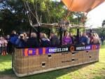 Prettige ballon vaart opgestegen op opstijglocatie Oss op dinsdag 25 september 2018
