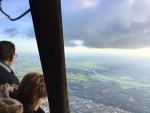 Verrassende luchtballonvaart opgestegen op startveld Zwolle op dinsdag 25 september 2018
