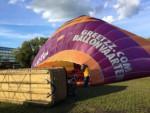 Formidabele luchtballon vaart opgestegen in Zwolle op dinsdag 25 september 2018