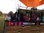 Majestueuze luchtballon vaart in de omgeving van Eindhoven dinsdag 26 juni 2018