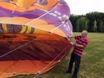 Formidabele luchtballon vaart startlocatie Eindhoven dinsdag 26 juni 2018