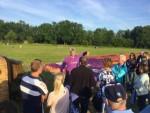 Spectaculaire ballon vaart startlocatie Veenendaal dinsdag 26 juni 2018