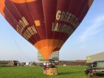 Professionele heteluchtballonvaart opgestegen op startveld Veghel op dinsdag 28 augustus 2018