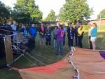 Ongekende ballonvaart gestart op opstijglocatie Leek dinsdag 3 juli 2018