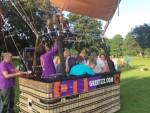 Prettige luchtballonvaart opgestegen op startlocatie Asten dinsdag 5 juni 2018
