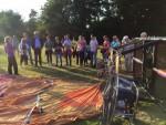 Ultieme heteluchtballonvaart gestart op opstijglocatie Hengelo dinsdag  5 juni 2018