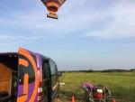Weergaloze ballonvlucht opgestegen op opstijglocatie Steenwijk op dinsdag  7 augustus 2018