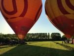 Formidabele luchtballon vaart startlocatie Beesd dinsdag  8 mei 2018
