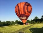 Geweldige ballonvlucht opgestegen op opstijglocatie Beesd dinsdag  8 mei 2018