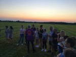 Prettige luchtballonvaart opgestegen op startveld Beesd dinsdag  8 mei 2018