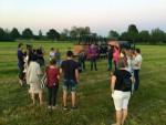 Professionele luchtballon vaart vanaf opstijglocatie Beesd dinsdag 8 mei 2018