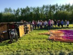 Majestueuze ballon vlucht in de omgeving van Beesd dinsdag 8 mei 2018