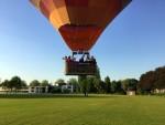 Comfortabele luchtballon vaart in de buurt van Doetinchem dinsdag 8 mei 2018