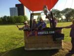 Comfortabele ballonvaart opgestegen in Maastricht dinsdag 8 mei 2018