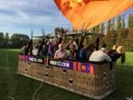 Ongeëvenaarde ballonvaart gestart in Beesd op dinsdag 9 oktober 2018