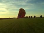 Feestelijke luchtballonvaart opgestegen op startlocatie Beesd op dinsdag  9 oktober 2018