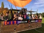 Mooie ballon vaart boven de regio Beesd op dinsdag  9 oktober 2018