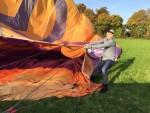Meesterlijke heteluchtballonvaart in de omgeving van Beesd op dinsdag  9 oktober 2018