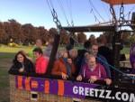 Uitstekende luchtballon vaart in de buurt van Doetinchem op donderdag 13 september 2018
