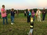 Perfecte luchtballon vaart gestart in Eindhoven op donderdag 27 september 2018