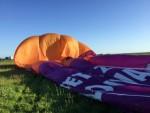 Relaxte ballonvaart in de buurt van Joure donderdag 3 mei 2018