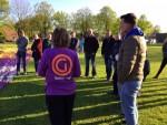 Hoogstaande luchtballonvaart gestart op opstijglocatie Leek donderdag 3 mei 2018