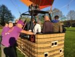 Weergaloze heteluchtballonvaart opgestegen op startlocatie Leek donderdag 3 mei 2018