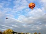 Feestelijke heteluchtballonvaart in Arnhem op donderdag  4 oktober 2018