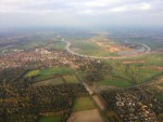 Super heteluchtballonvaart opgestegen op opstijglocatie Arnhem op donderdag 4 oktober 2018