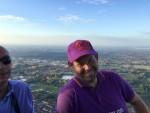 Meesterlijke luchtballon vaart startlocatie Eindhoven op maandag 15 oktober 2018