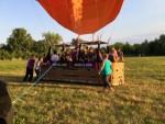 Plezierige ballon vaart boven de regio Deurne maandag 16 juli 2018