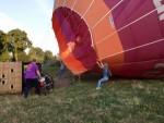 Plezierige ballonvaart opgestegen op opstijglocatie Deurne maandag 16 juli 2018