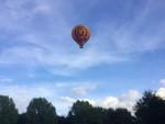 Hoogstaande ballon vaart omgeving Capelle aan den ijssel op maandag 20 augustus 2018