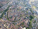 Meesterlijke ballonvlucht opgestegen op startveld Hoogland op maandag 20 augustus 2018