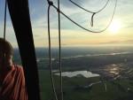 Geweldige luchtballon vaart vanaf startlocatie Zwolle op maandag 20 augustus 2018
