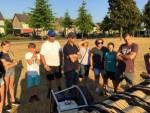 Uitzonderlijke luchtballon vaart startlocatie Uden maandag 23 juli 2018