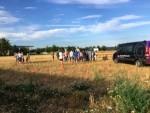 Verrassende luchtballonvaart in de buurt van Deurne maandag 30 juli 2018