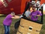Bijzondere ballon vaart gestart in Beesd maandag  6 augustus 2018
