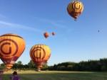 Jaloersmakende ballon vlucht opgestegen op startveld Beesd maandag  6 augustus 2018