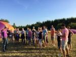 Buitengewone heteluchtballonvaart gestart op opstijglocatie Beesd maandag  6 augustus 2018