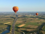 Jaloersmakende ballonvlucht gestart in Beesd maandag  6 augustus 2018