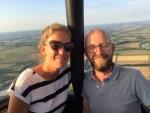 Magische heteluchtballonvaart opgestegen op startveld Beesd maandag  6 augustus 2018