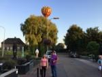 Uitstekende heteluchtballonvaart opgestegen op startveld Beesd maandag  6 augustus 2018