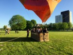 Te gekke luchtballonvaart vanaf opstijglocatie Maastricht maandag 7 mei 2018